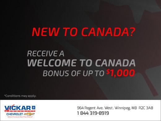 Vickar Chevrolet's New to Canada Program