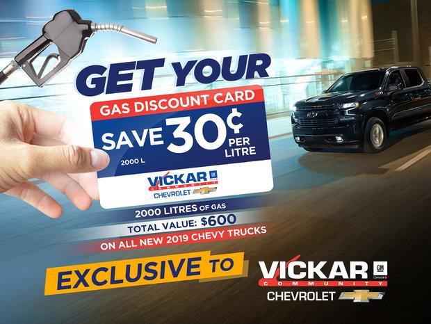 Vickar Chevrolet Gas Discount Card