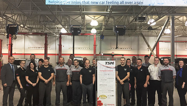 Service Department achieves Gold Certification October 2017