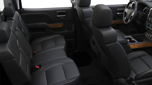 Jet Black Perforated Leather Bucket Seats (H3B-AN3)
