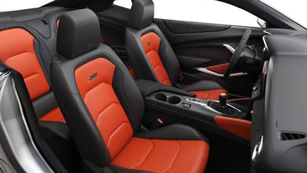 Jet Black Leather with Orange Inserts (HUZ-A50)