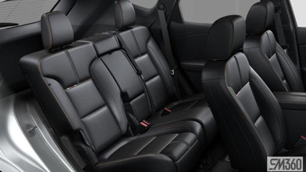 Jet Black Perforated Leather (H2U-AR9)