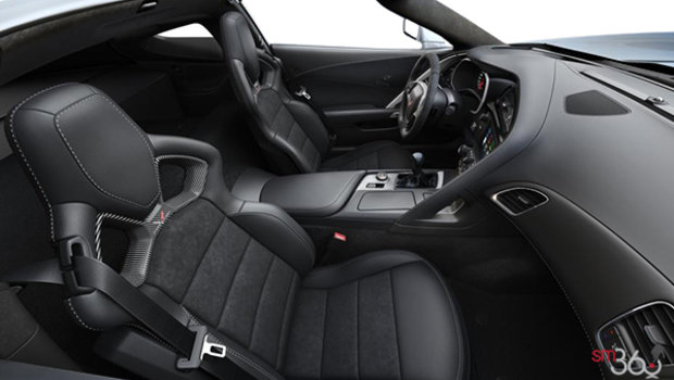 Jet Black Competition Sport buckets Leather seating surfaces with sueded microfiber inserts (192-AE4)