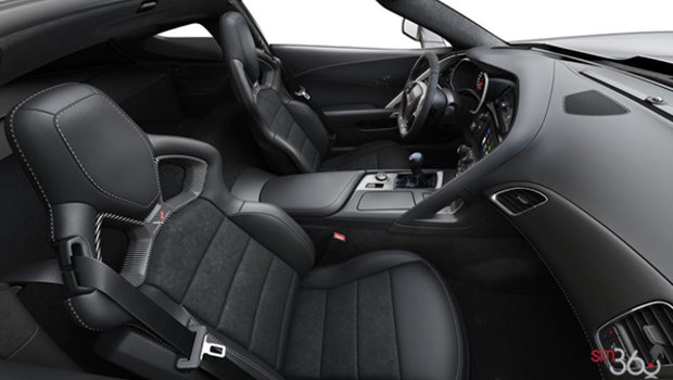Jet Black Competition Sport buckets Leather seating surfaces with sueded microfiber inserts (196-AE4)