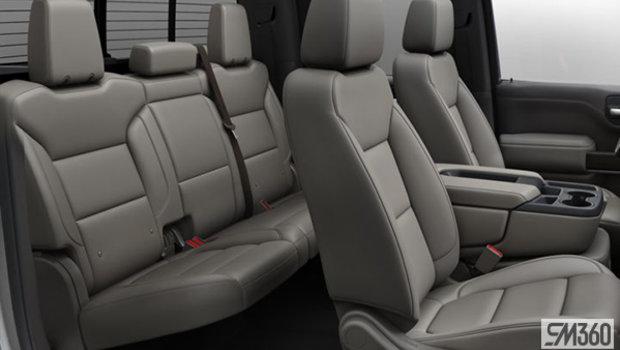 Gideon/Very Dark Atmosphere Leather-appointed, 40/20/40 bench seat w/ armrest/adjustable lumbar/under-seat storage (AZ3-HVC)