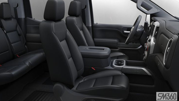 Jet Black Perforated Leather-appointed seat, Bucket seats (A50-H1Y)