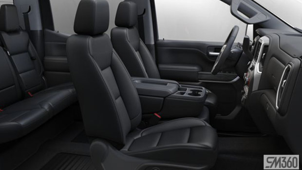 Jet Black Perforated Leather-appointed seat, 40/20/40 bench seat w/ armrest/adjustable lumbar/under-seat storage (AZ3-H1Y)