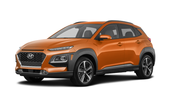 2020 Hyundai Kona ULTIMATE Black with Orange Trim