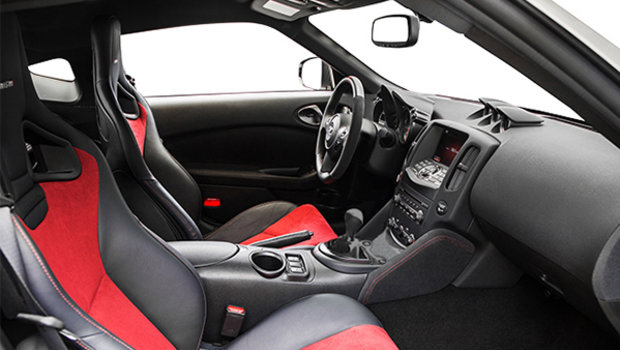 NISMO Black/Red Alcantara Leather