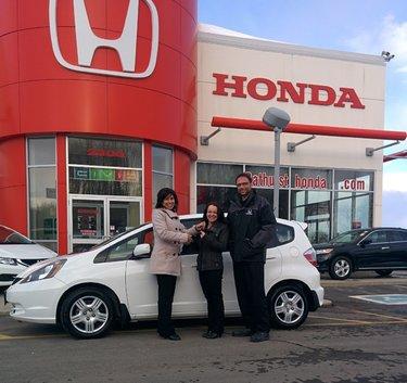 Thank you Bathurst Honda for the excellent service, we'll definitely buy again from you! Ghislain Pitre & Melissa Kim Roy
