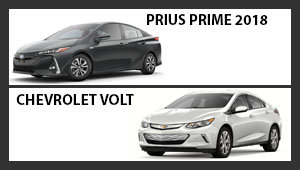 Toyota Prius 2018 versus Chevrolet Volt