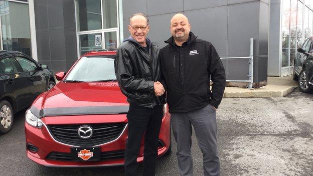 Félicitations à M. Lehoullier pour l'acquisition de votre nouvelle Mazda
