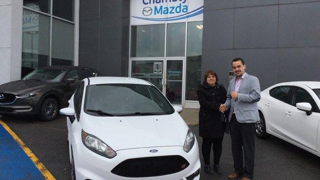Félicitations madame Hamelin pour votre nouvelle Fiesta ST