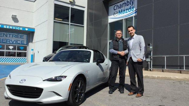 Félicitations M. Boivin pour l'acquisition de votre Mazda MX-5 RF