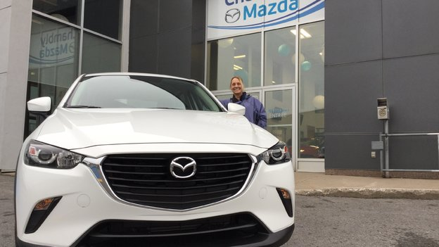 Félicitations,Mme Lemay pour votre achat de Mazda CX-3