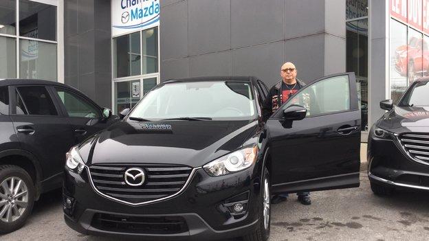 Chambly Mazda remercie M. Benoît de la confiance apportée.