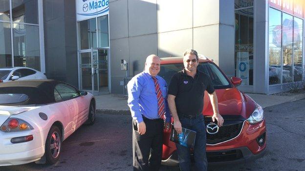 Félicitations M. Bisson pour l'acquisition de votre Mazda