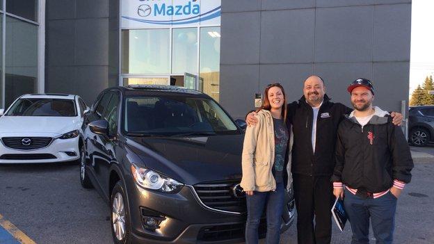 Félicitations M. Boutin et Mme Whitton pour votre achat de Mazda CX5