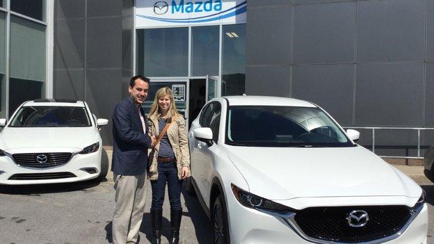 Félicitations Mme. Bellavance pour l'acquisition de votre nouveau Mazda CX5