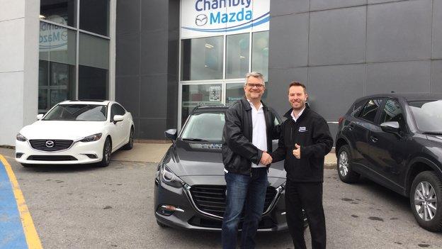 Félicitations M. Lavoie pour votre nouvelle Mazda 3 GT 2017