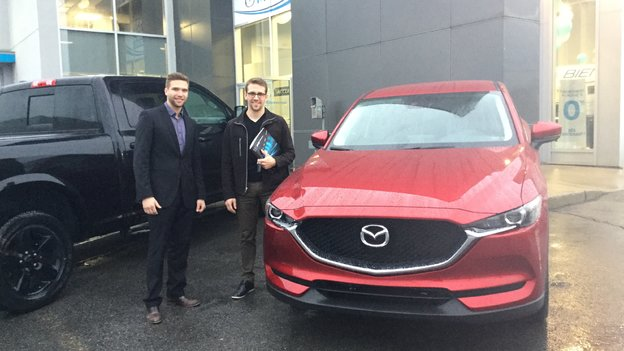 Merci M. Gosselin pour votre confiance lors de votre achat de votre Mazda CX5 2017