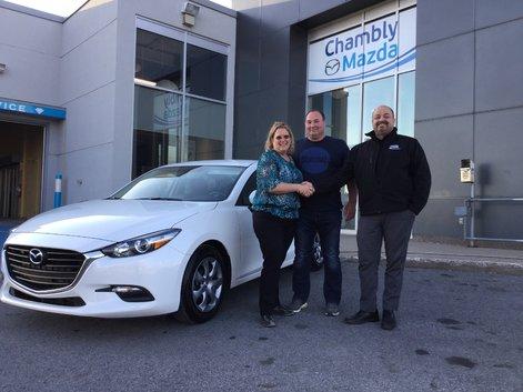 Félicitations M. Côté et Mme Henry pour votre nouvelle Mazda 2017