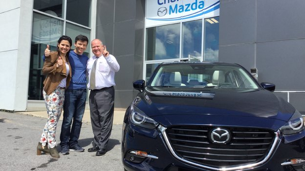 Merci à M. Tullio pour la confiance apportée à Chambly Mazda