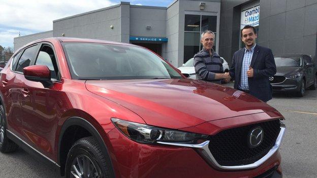 Félicitations M. Gélinas pour votre nouvelle Mazda CX5 2017
