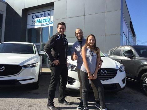 Félicitations M. Noiseux pour votre nouvelle Mazda CX5