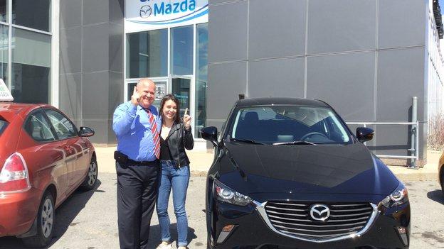 Félicitations Mme Brault pour votre nouvelle Mazda CX3 2017