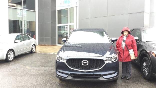 Félicitations Mme Brosseau pour votre nouvelle Mazda CX5 2017