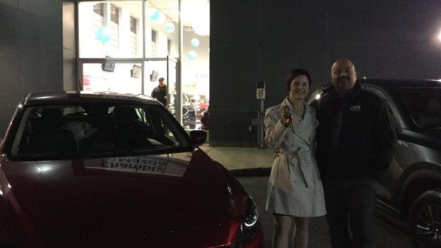 Félicitations à Mme Gamache pour l'achat de sa Mazda 3 GT 2017