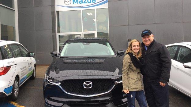 Félicitations à Mme Chloé Bélanger pour sa nouvelle Mazda CX5 2017