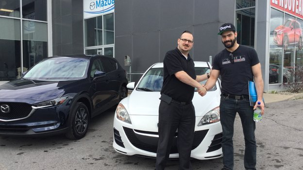 Félicitations M. Ducharme Trempé pour votre nouvelle Mazda