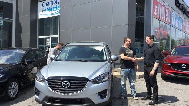 Félicitations M. Richard pour l'achat de votre nouvelle Mazda CX5GT