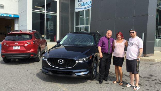 Félicitations Mme Bujold pour l'achat de votre nouvelle Mazda CX5 2017