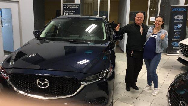 Félicitations Mme Eugénie Jalbert pour votre nouvelle Mazda CX5 2017