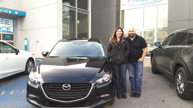 Félicitations Mme Colette Maurice pour votre nouvelle Mazda 3 2017