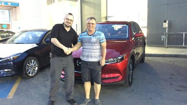 Félicitations à M. Robert Barré pour l'acquisition de sa nouvelle Mazda CX5 2017