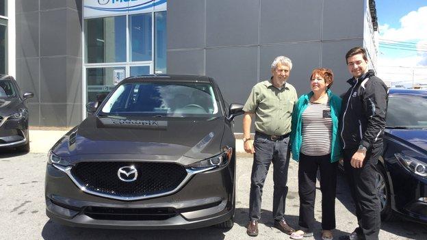 Félicitations à M. Gougeon pour sa nouvelle Mazda CX5 2017