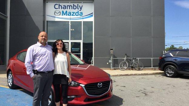 Félicitations Mme Marie Ève Gagnon pour votre nouvelle Mazda 32017