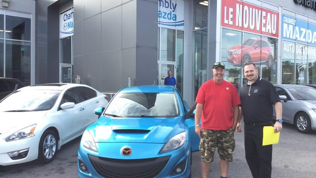 Félicitations M. Chrétien pour l'achat de votre nouvelle Mazda 3