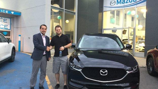 Félicitations M. Eric  Archambault pour l'achat de votre nouvelle Mazda CX5 2017