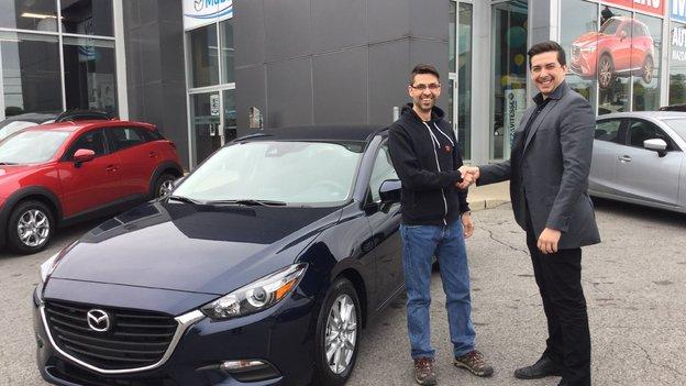 Félicitations à M. Patrick Villeneuve pour votre nouvelle Mazda 3 /2017