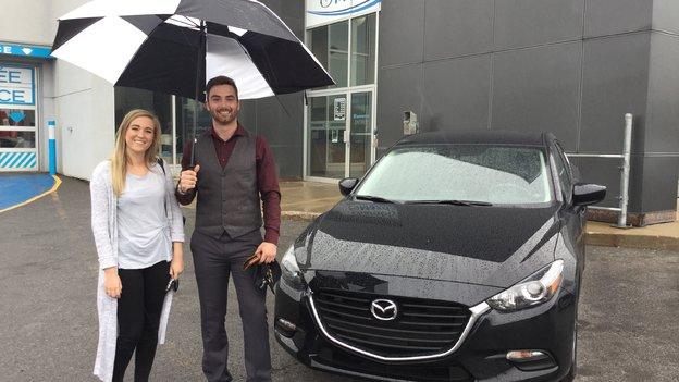 Félicitations Madame Maude Bélanger pour l'achat de votre nouvelle Mazda 3 /2017