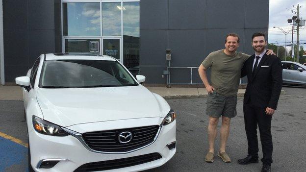 Félicitations à M. Richard Côté pour l'achat de sa nouvelle Mazda 6 2017