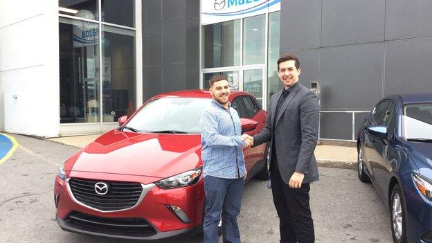 Félicitations M. Steve Keroack pour l'achat de votre nouvelle Mazda CX3 /2017