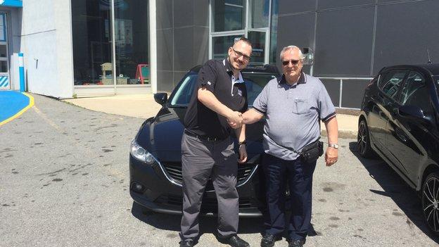 Félicitations M. Pierre Bisaillon pour votre Mazda 6