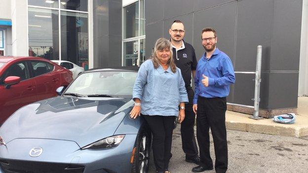 Félicitations Mme Bourdon pour votre nouvelle Mazda CX 5 2017