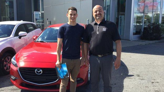 Félicitations Monsieur Laflamme pour votre nouvelle Mazda 3 2017